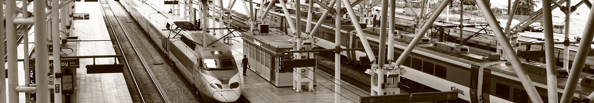European railway station.