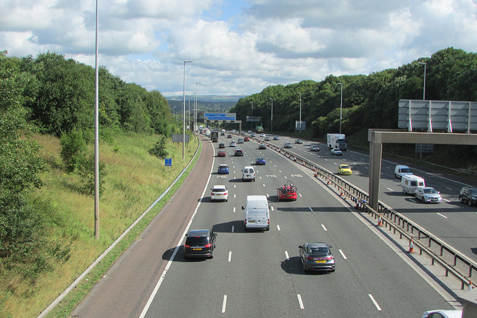 M6 motorway, UK.